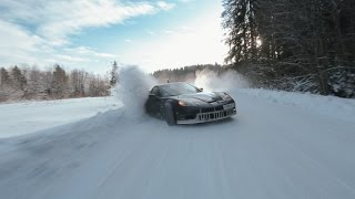 Crazy winter drift, Russia
